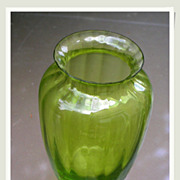 SALE French vintage BACCARAT Crystal vase emerald crystal signed Crystal Baccarat