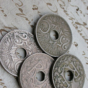 SALE French coins 40pcs  vintage 1920s 1939s large hold collectible art deco period coins ...