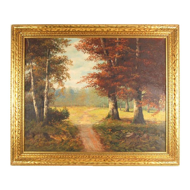 Landscape Minature Oil Painting Signed S