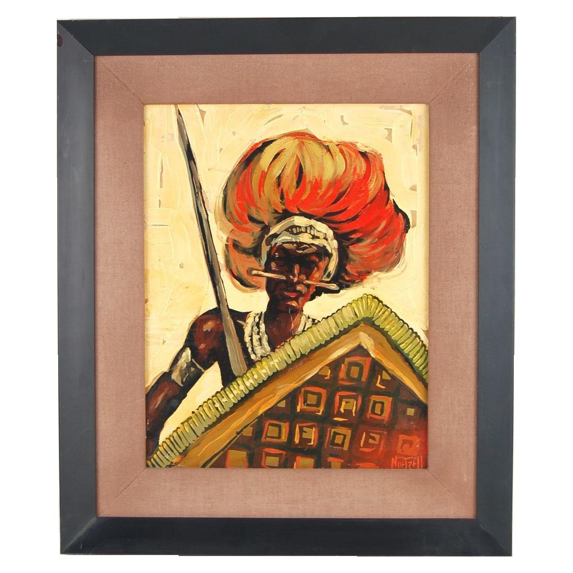 Zulu Warrior Headdress African Zulu Warrior Painting
