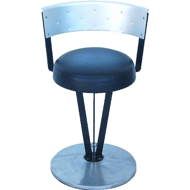 steel brushed aluminum modern vanity stool memphis