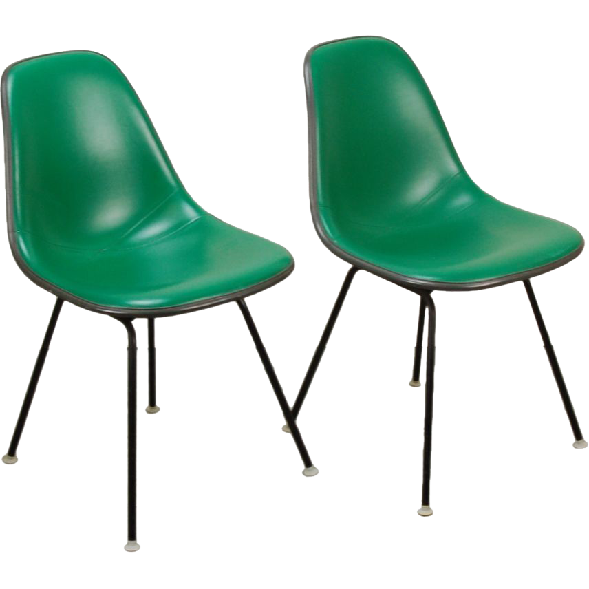 Pair Original Herman Miller Eames Molded Plastic Side Chair from ...