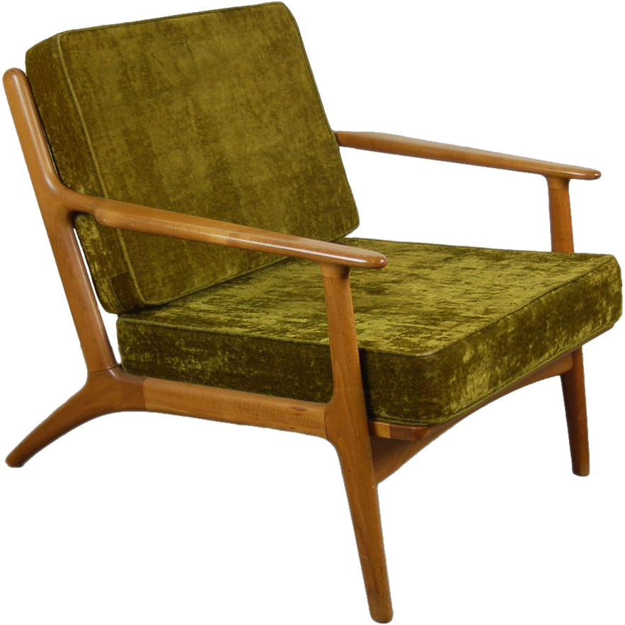mid century danish modern poul jensen selig style lounge chair from
