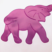 Vintage purple resin elephant brooch marked France