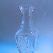 French glass vase