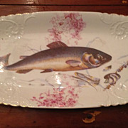 Gorgeous Austrian fish platter with 8 lunch plates hallmarked