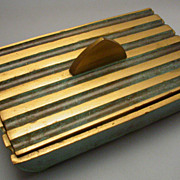 Vintage marked Israeli brass card trinket box