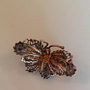 Antique miniature filagree Butterfly marked 800 C -Clasp