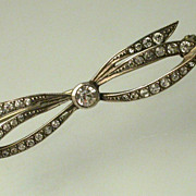 Antique Paste 900 Silver Brooch