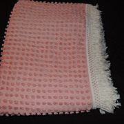 Pink Chenille Morgan Jones Bedspread Full