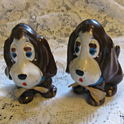 Vintage Bassett Hound Salt and Pepper set