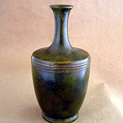 "SALE Old Bronze 8.5"" Tapered Neck Vase"