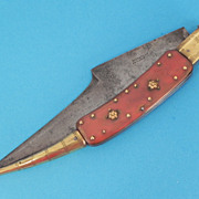 Haudeville En Albecette Spain Large Fancy Rosette Pin Navaja Knife