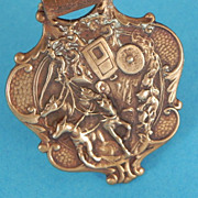 Brass or Copper High Relief Watch Fob