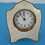 Celluloid Manual Desk Clock - Made in USA