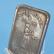 Advertising Cast Lead Paperweight - Breakfast Cocoa