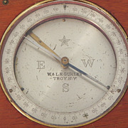W. & L.E. Gurley Wood Boxed Compass