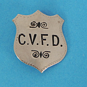California Volunteer Fire Department Badge - Rare