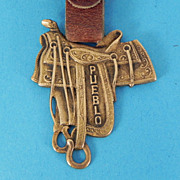 Pueblo R.T. Frazier Pueblo Saddle Brass Watch Fob