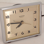 SOLD Hammond Synchronous Art Deco Electric Alarm Clock