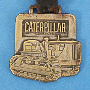 REDUCED Indiana Caterpillar Watch Fob with Leather Strap
