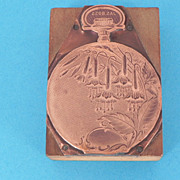 Scarce James Boss Pocket Watch Print'er Block