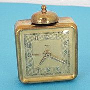 Jerral, West Germany Small One Bell Brass Alarm Clock
