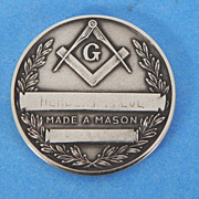 REDUCED Masonic Scottish Rite Cathedral Round Token