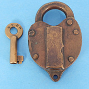 REDUCED Northern Pacific Railroad Switch Lock & Key