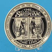 Pneuvac Company Advertising Paperweight with Mirror