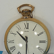 United Electric &quot;Pocket Watch&quot; Shaped Wall Clock
