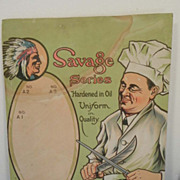 REDUCED Robeson Shuredge Advertising Sign - Chef