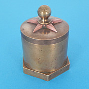 Military Trench Art Paperweight Brass & Copper Shell Box