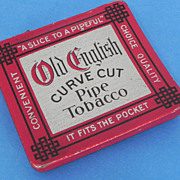 REDUCED Old English Curve Cut Pipe Tobacco Pocket Tin