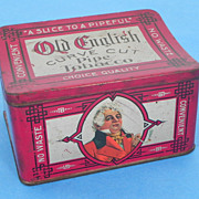 REDUCED Old English Curve Cut Pipe Tobacco Tin