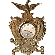 Vintage Virginia Metalcrafters Solid Brass Ornate Pocket Watch Holder