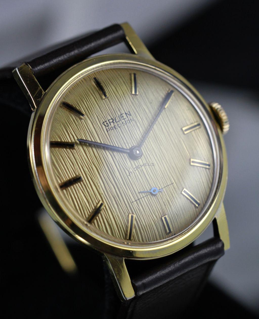 Gruen Precision Gorgeous Dial Men S Vintage Watch Circa