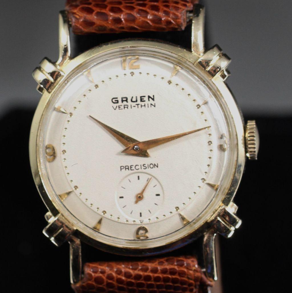 gruen 14k solid gold vintage s from