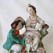 Antique Staffordshire Figurine Virginia & Paul 19th C - Ex-Collection