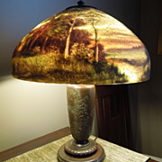 SOLD Handel lamp. Spectacular scenic lamp