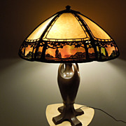 34 - Handel lamp. Stunning overlay