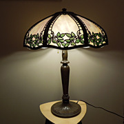 35 - Handel Metal Overlay Lamp