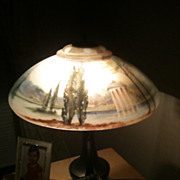 8 - Pairpoint reverse painted San Souci lamp