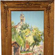 Italian, 19th century, watercolor of San Trovaso, Venice