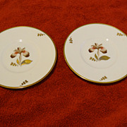 Royal Copenhagen Brown Iris 2 bread and butter plates
