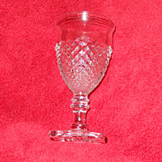 Westmoreland English Hobnail stemmed goblet, clear