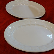 Two W. E. Corn Wheat Ironstone Platters