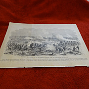 Civil War etching Battle of Williamsburg