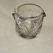 Daum France crystal ice bucket