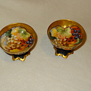 Haviland handpainted grape punch cups